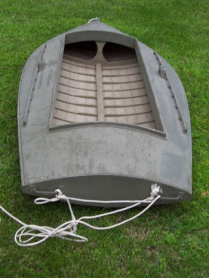 1930 10' pumpkin-seed style, canvas over wood duck boat - $2,000