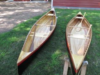 2 handmade 15' Bob's Special cedar / cypress strip canoes - $3500 each