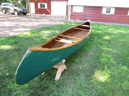 17' Restored Thompson Hiawatha wood canvas canoe - $3500