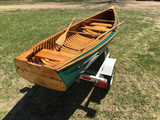 Fully restored 15' 1943 Old Town wood/canvas square stern canoe